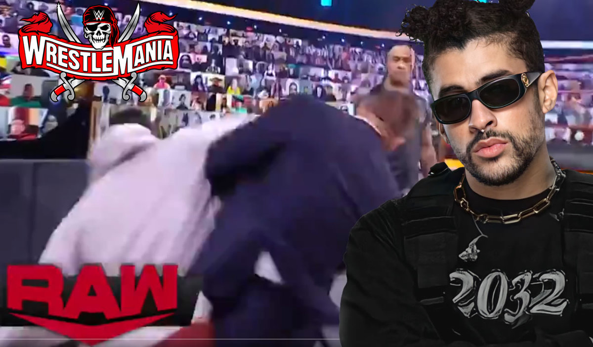 "No one ever told Bad Bunny it was ""fake"".  He punched The Miz in WWE"
