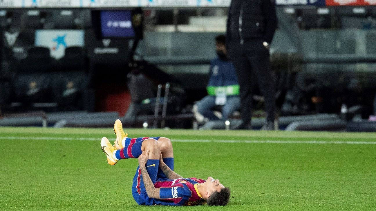 Philippe Coutinho's recovery is not progressing and there is still no date for him to reappear with Barcelona
