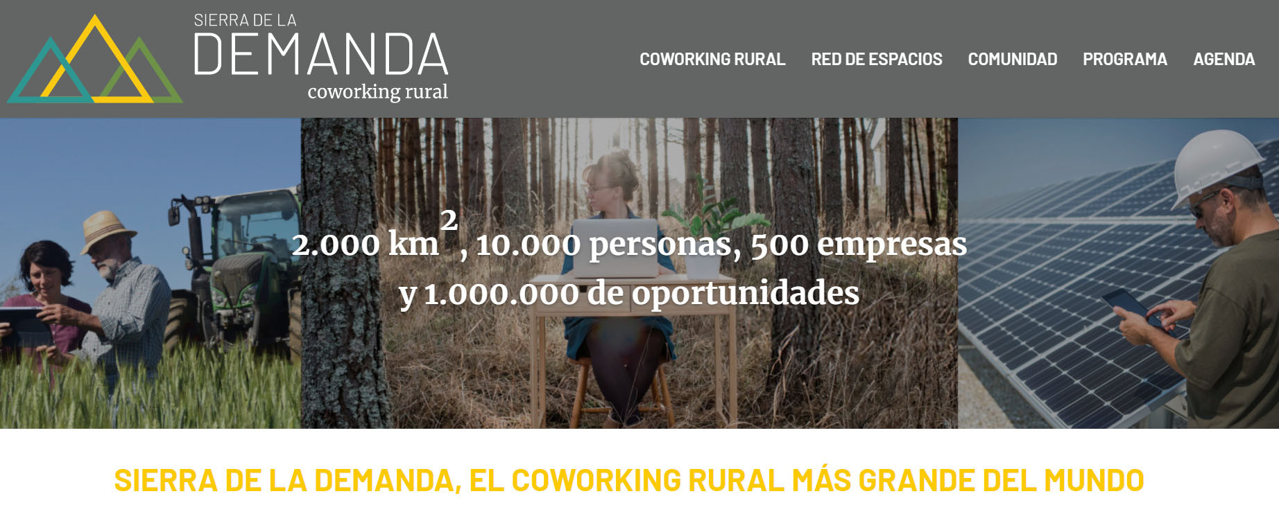 """Sierra de la Demanda (Burgos) creates the """"largest co-working space"""" in the world to reform and attract residents"""