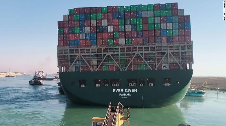 The failure of the Suez Canal could disrupt commercial supplies for several months