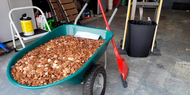 With 90 thousand coins, the last payment for a worker in America