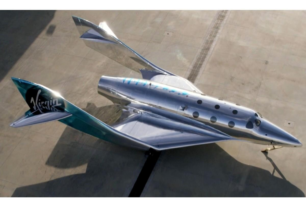 This is Imagine, the new Virgin Galactic spacecraft