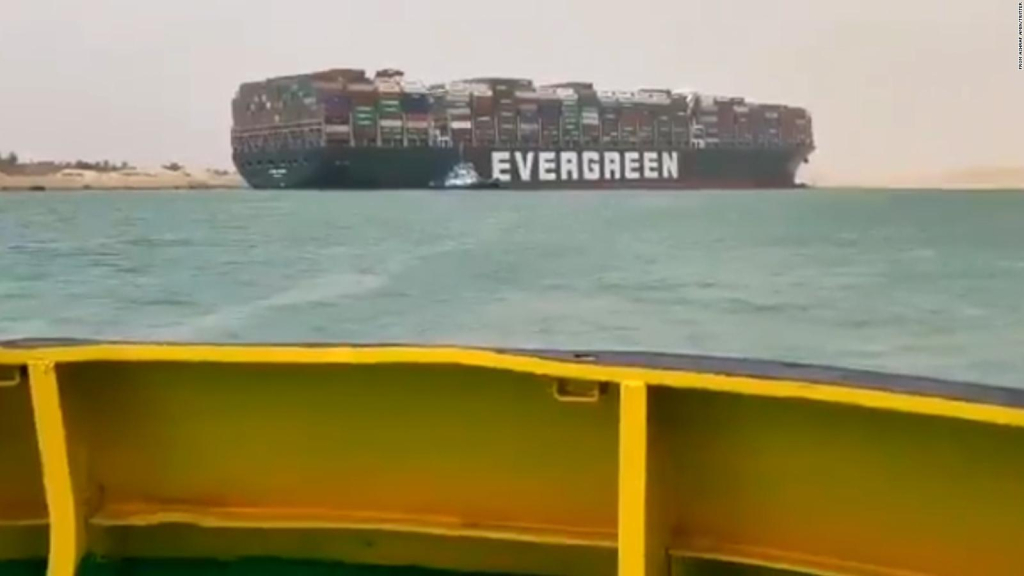A ship ran aground and blocked the Suez Canal