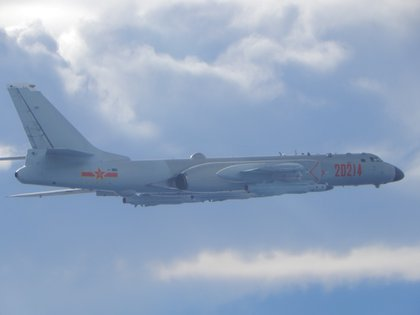 Chinese H-6 bomber on a mission near the Taiwan Strait (Reuters / File)
