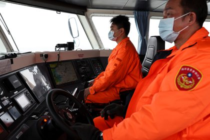 Taiwanese coast guard patrols the Matsu Islands (Reuters)