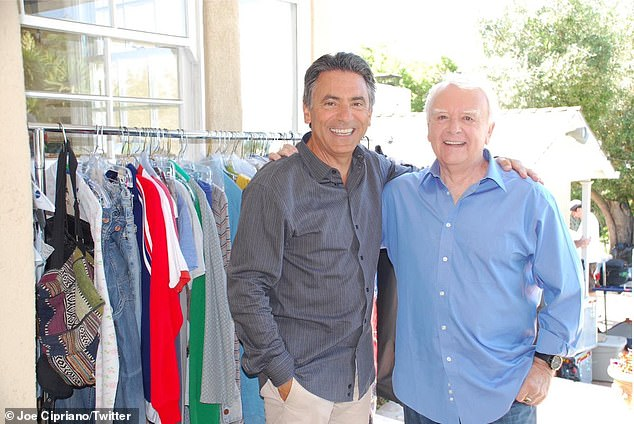 Elliott died in a Los Angeles hospital after a heart attack on Saturday, according to a friend who spoke with The Hollywood Reporter (pictured with a friend and fellow voice over artist Joe Cipriano)