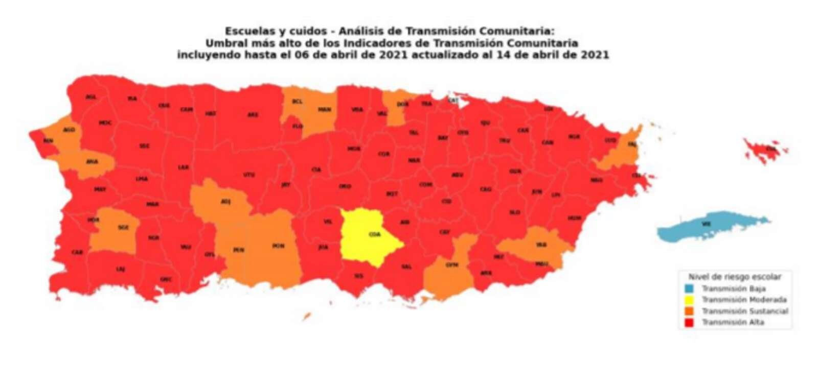 Infection Map Painted In Red – Notice Cell – True – Puerto Rico News – Notice Cell