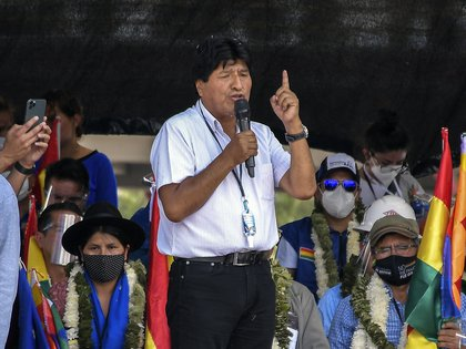 """Former Bolivian President Evo Morales is taking part in the GAMEP in Cochabamba.  Charged MAS leader """"Finger"""" To elect leaders in previous elections that led to the failure of their movement (EFE)"""