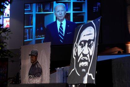 Joe Biden's message at George Floyd's funeral (Reuters)