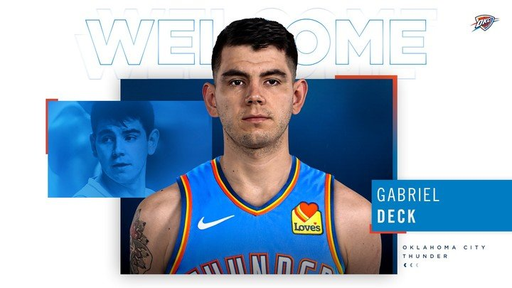 The Oklahoma City Thunder has officially announced the arrival of Gabrielle Dick, who is already in town.