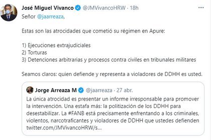 Jose Miguel Vivanco and Jorge Arizaa exchange on the Human Rights Watch report on Venezuela