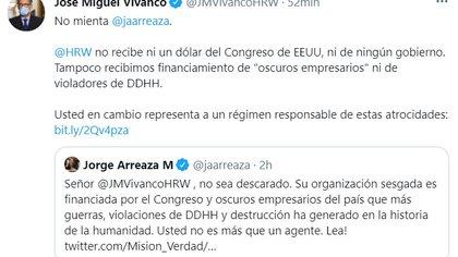 Jose Miguel Vivanco and Jorge Arizaa exchange on the Human Rights Watch report on Venezuela