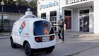 The robot will deliver Domino's Pizza orders