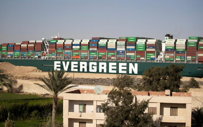Egypt seizes the Evergreen ship as compensation for the Suez Canal