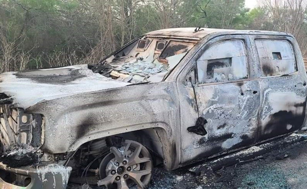 Eight vehicles were killed and 7 vehicles burned in a shooting encounter in Camargo, Tamaulipas