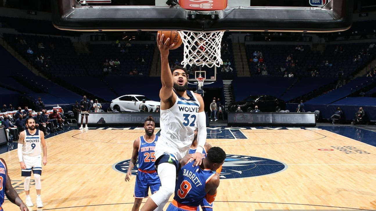 Karl Townes scored 17 rebounds in the win over the New York Knicks