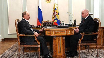 Russian President Vladimir Putin and Chairman of the Russian Investigation Commission Alexander Bastrykin
