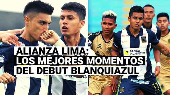 Alianza Lima: Check out the best moments of Blue and White's debut in League 1