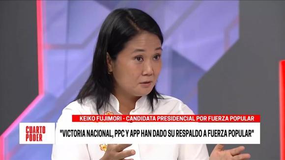 Keiko Fujimori appreciates the support of other political parties