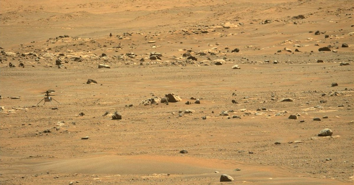 Science.-Ingenuity begins an aerial tour of Jizero Crater on Mars