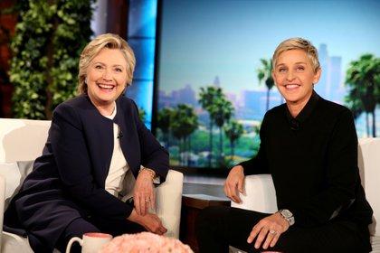 Ellen DeGeneres with Hillary Clinton on her show (Reuters)