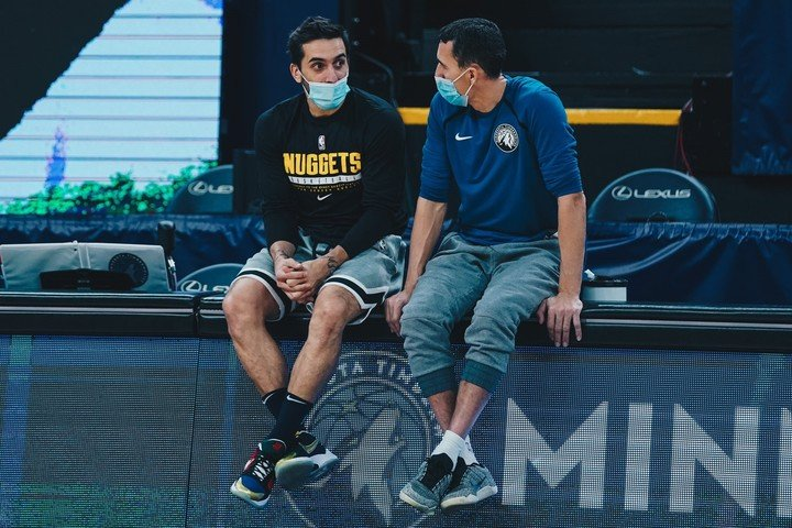 Facundo Campazzo and Pablo Brigioni.