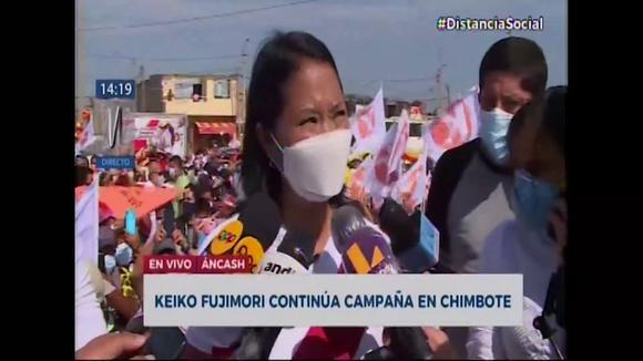 Keiko Fujimori, on the objection of Prosecutor Perez: