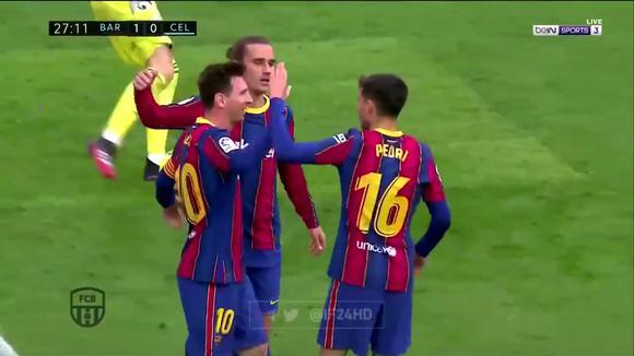 Lionel Messi's goal for Barcelona 1-0 against.  Celta de Vigo in LaLiga.  (Video: Ben Sports)