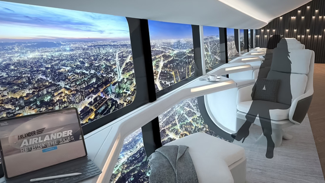 Pictures of the interior concept of the future commercial airship Airlander 10 were released