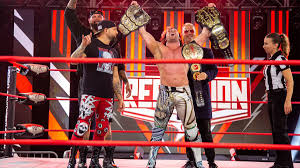 AWE Double or nothing results: Omega needs all his belts to retain