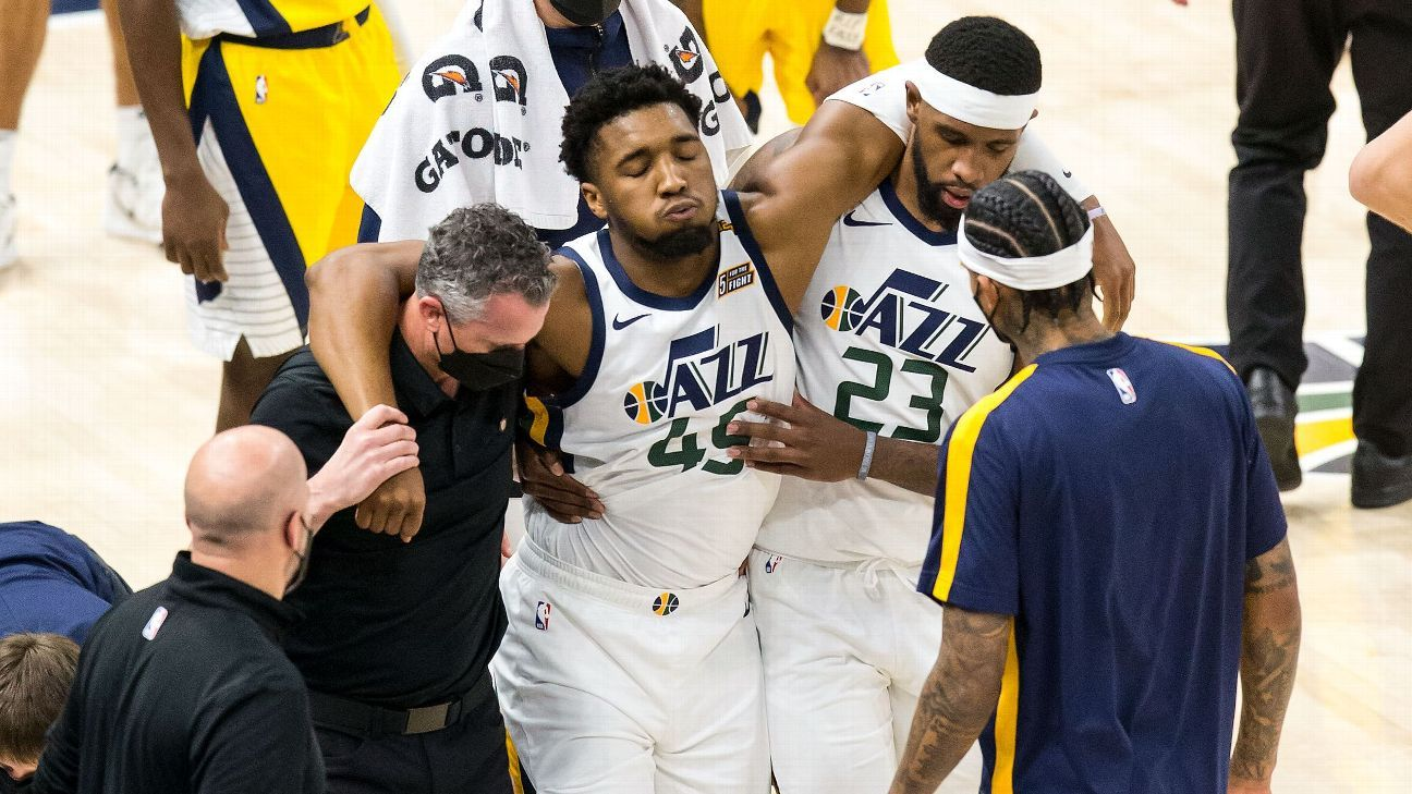 Donovan Mitchell (ankle) is back in training and is expected to play Sunday in the first playoff game for the Utah Jazz