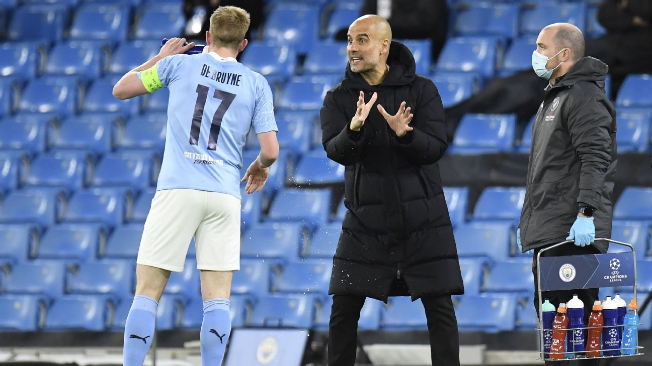"""Guardiola and his idea of a """"false 9"""" led City to the Champions League final for the first time"""