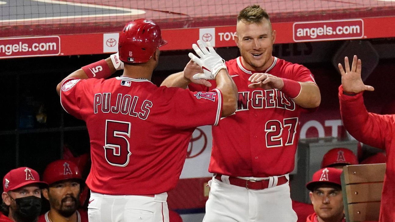 Los Angeles players were surprised and shocked to learn that Albert Pujols had been withdrawn