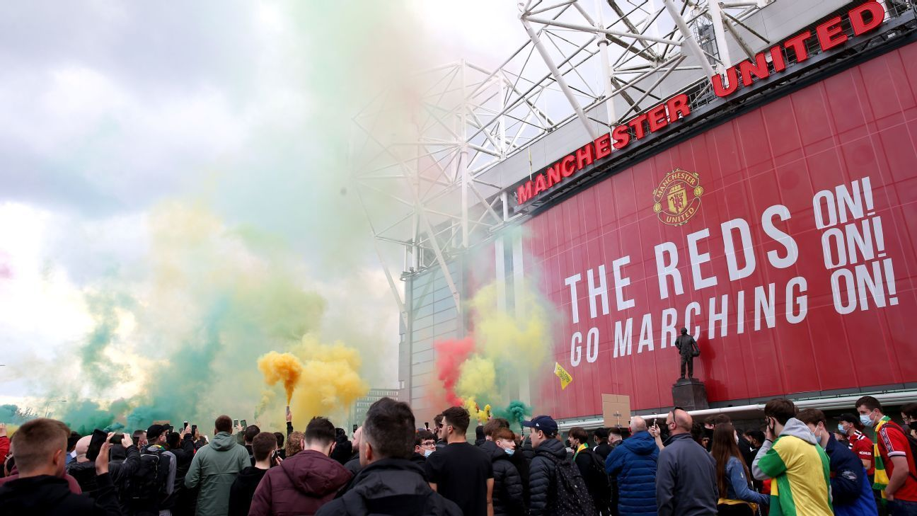Manchester United fans invade Old Trafford in protest against the owners