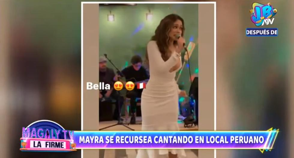 Mayra Goñi is caught singing in a Miami restaurant, Magaly TV La Firme Video nndc    Offers