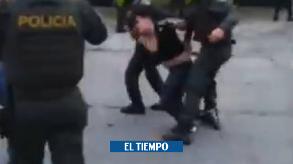 Police alleged mistreatment of a young man during protests in Cali – Cali – Colombia