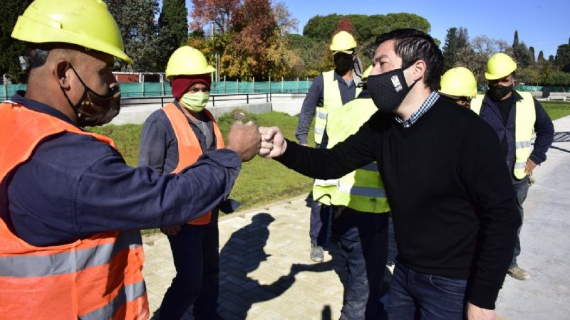 """Progress in restoring public space to the Plaza """"La Amistad"""" – Latest news from Zona Norte 