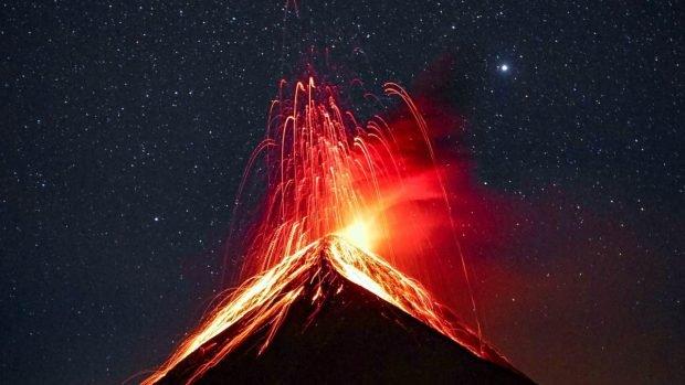 A volcano in Hawaii
