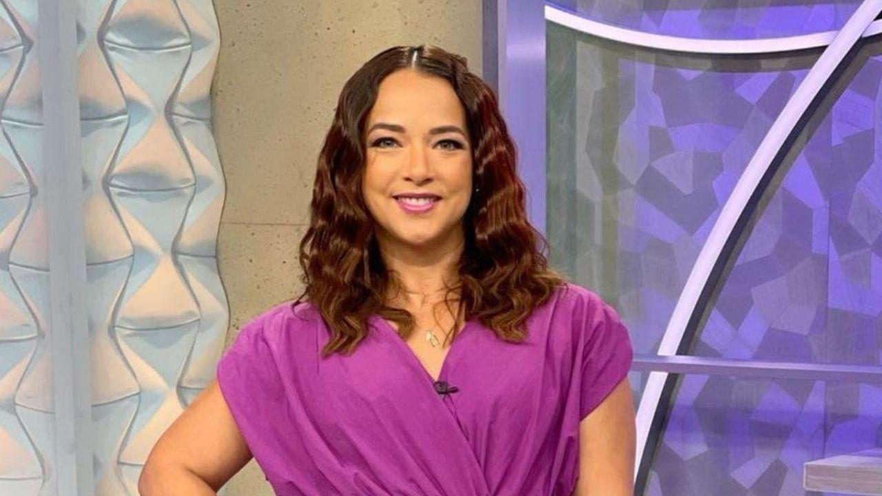 Skinnier: Adamari Lopez wore a white dress