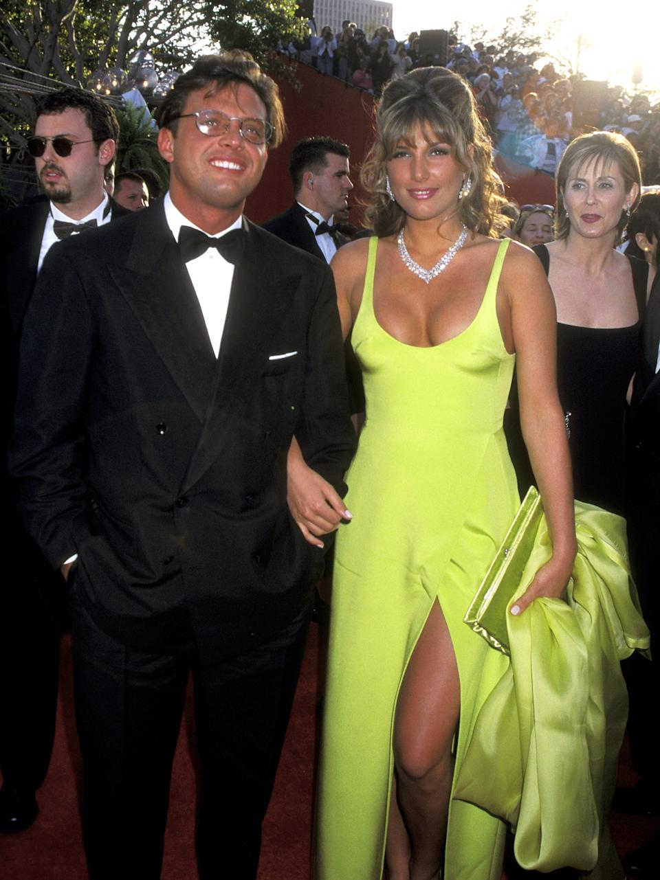 LOS ANGELES - MARCH 25: Latina singer Luis Miguel and actress Daisy Fuentes attended the 68th Annual Academy Awards on March 25, 1996 at the Dorothy Chandler Pavilion in Los Angeles, California.  (Photo by Ron Galella, Ltd / The Ron Galella Group via Getty Images)
