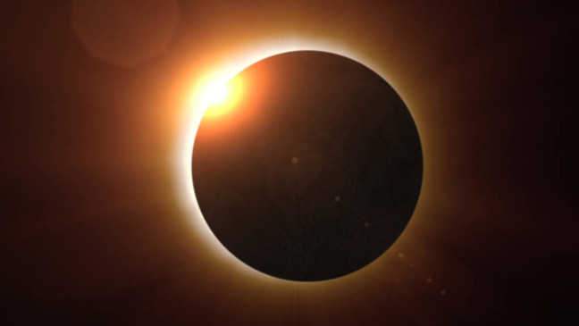 On June 10, the Moon gets caught in the midst, causing a solar eclipse
