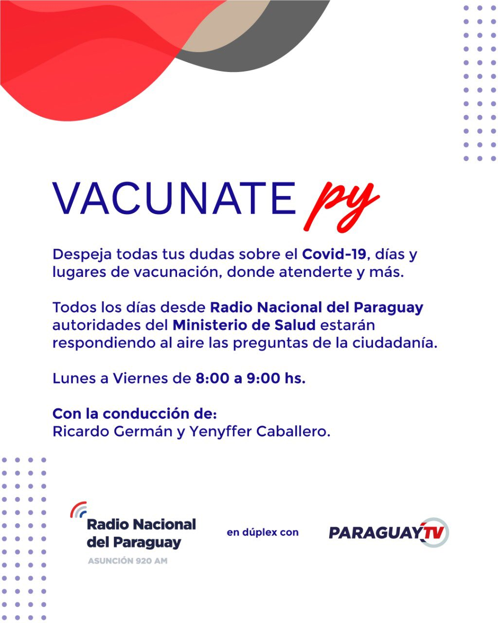 """""""Vacunate Py"""", a new daily information space about the antiviral vaccination campaign"""