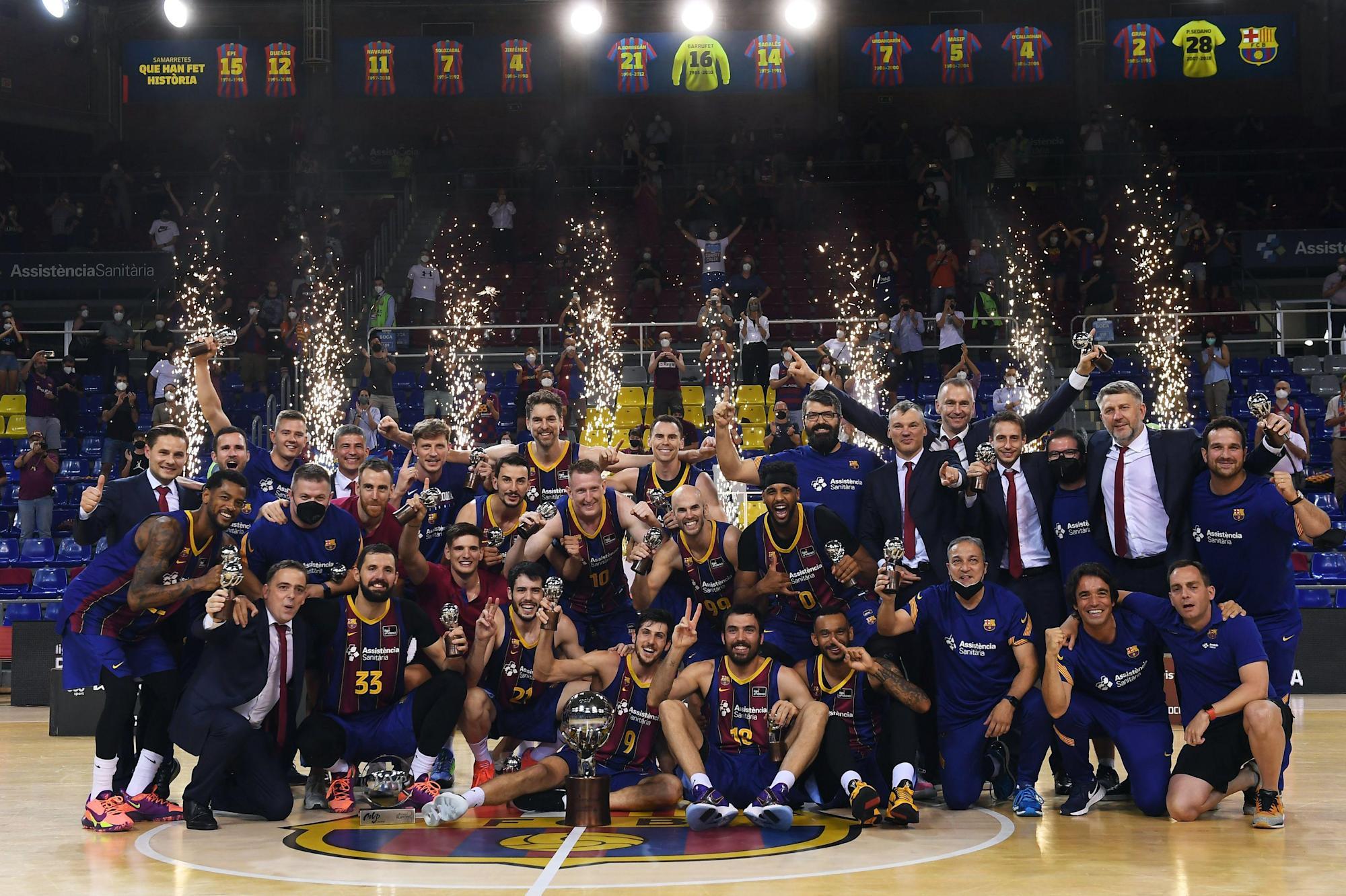 Barcelona won the league title after seven seasons