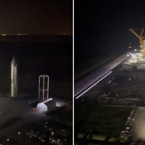 Video: Elon Musk shows a panoramic view of Starbase's 'Space City' works from above the rocket hangar
