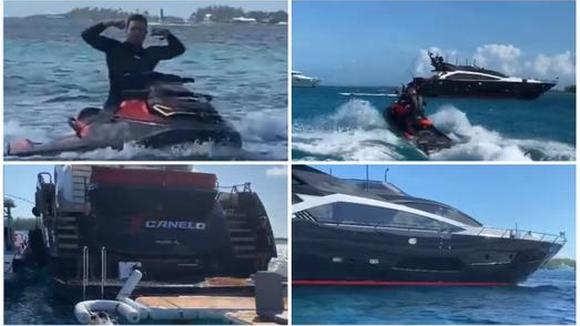 Instagram: Canelo Alvarez shows his luxury yacht in the Bahamas (01/06/2020)