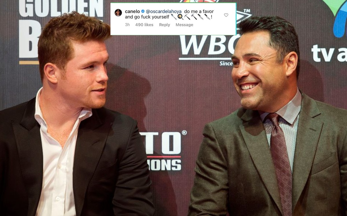 Canelo Alvarez and Oscar De La Hoya appeared on social media