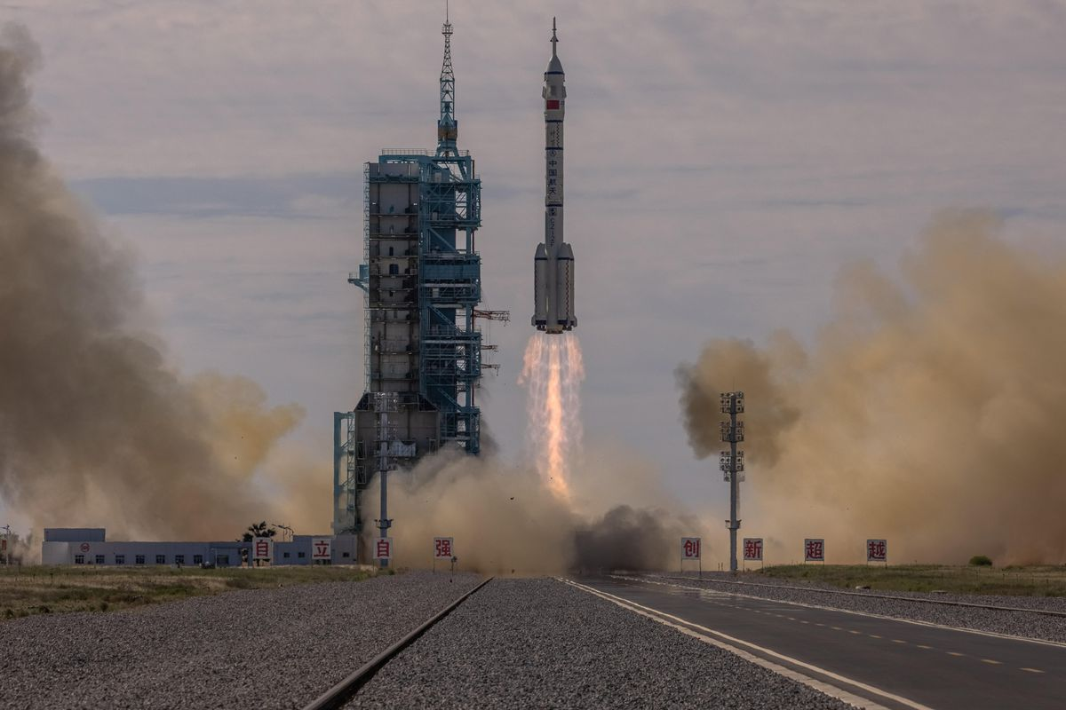 China successfully launches a manned mission to its space station    Science