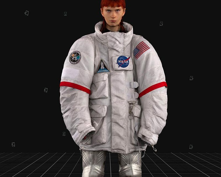 Don't have money for space travel?  You can still look like an astronaut with this Balenciaga set