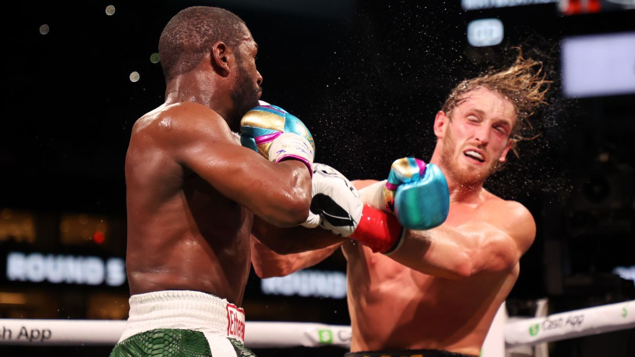 Floyd Mayweather dominated, but failed to knock out Logan Paul