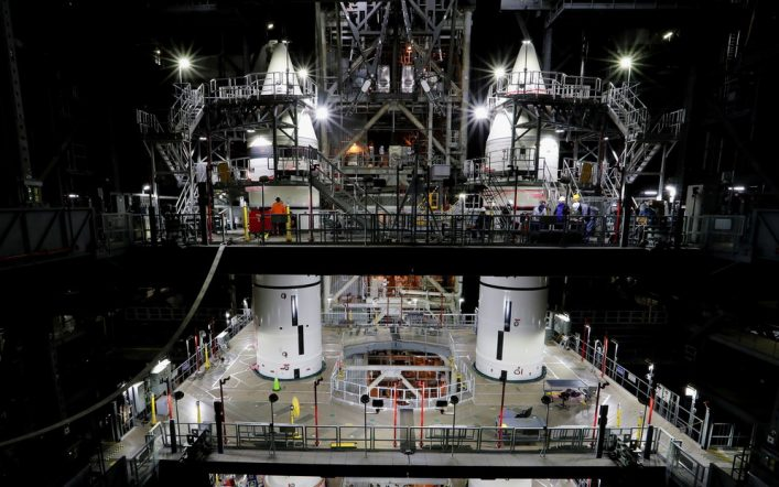 NASA shows its most powerful rocket assembled for the first time